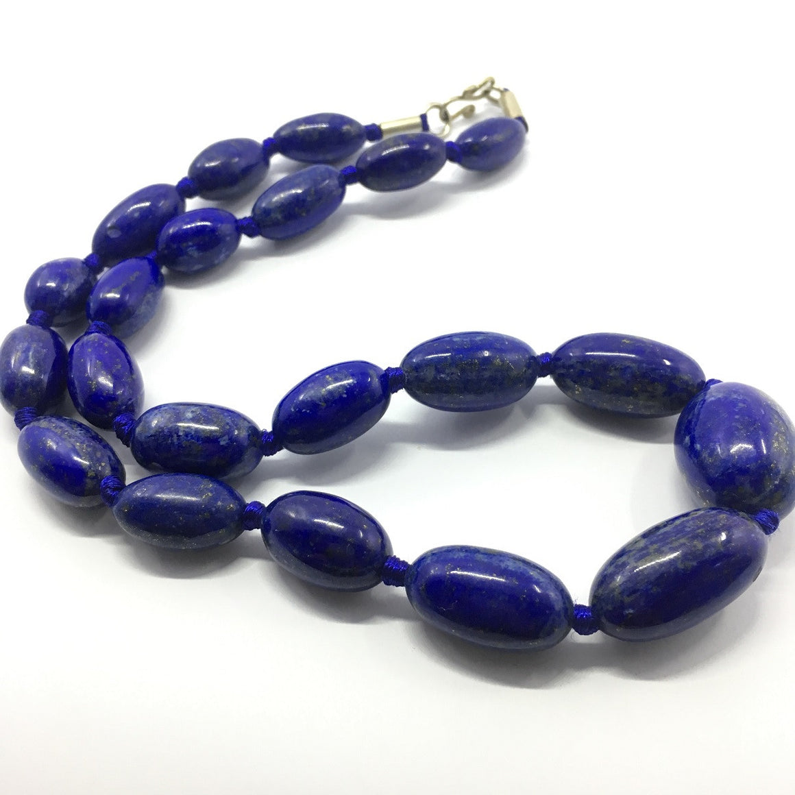 Lapis Lazuli Necklace - Lapis Necklace 21 Oval Beads - 476.0 ct