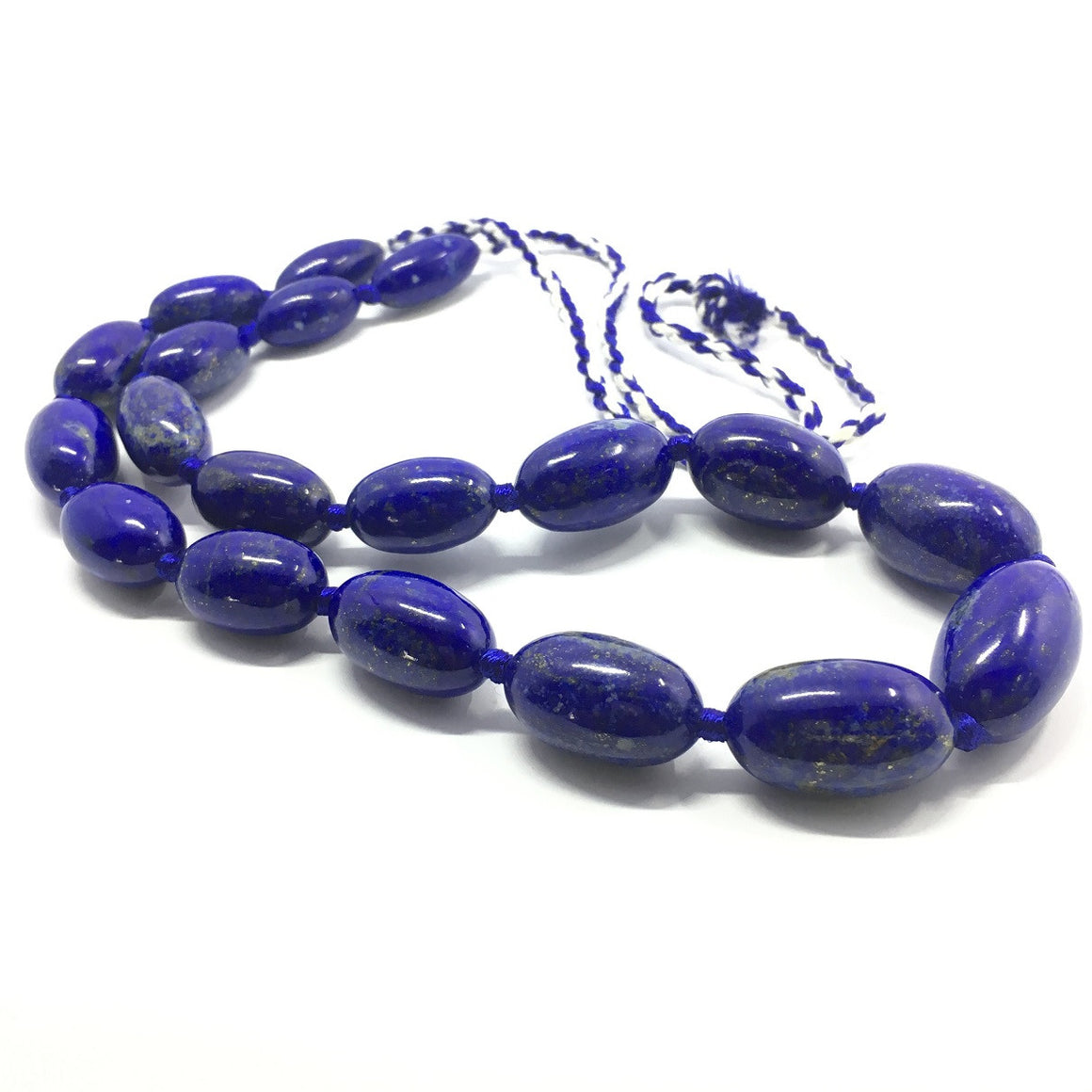 Lapis Lazuli Necklace - Lapis Necklace 19 Oval Beads - 649.0 ct