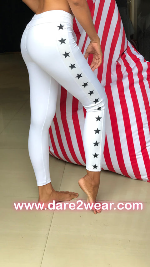 Jennifer Star legging in white Spandex