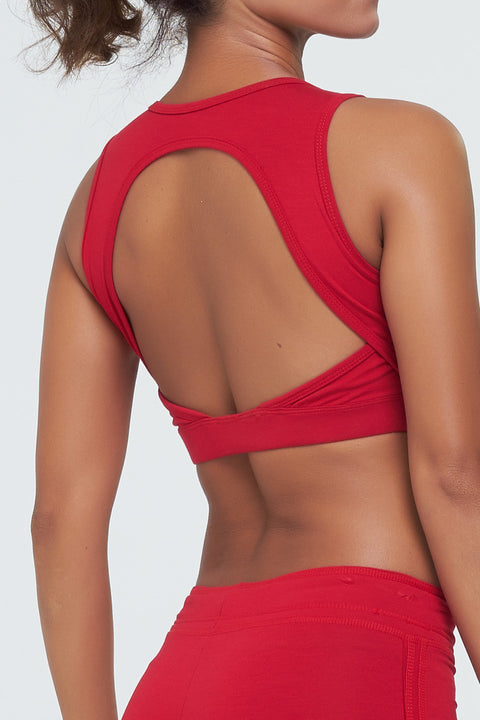 Tatienne Crop Open back in Red