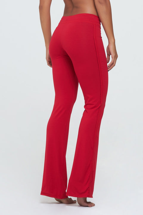 D2W Basic Flair in bright red Rayon/Lycra