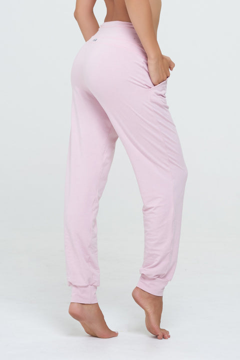 Lazy Jane Dance pants in Soft Ballerina Pink, Rayon/Lycra
