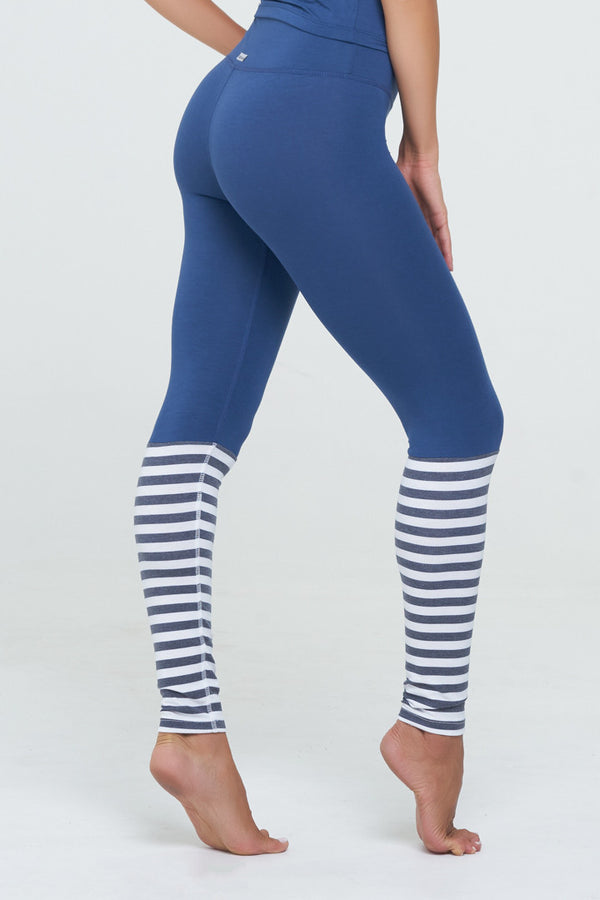 Angela High waist with New York stripe sock, Rayon/Lycra