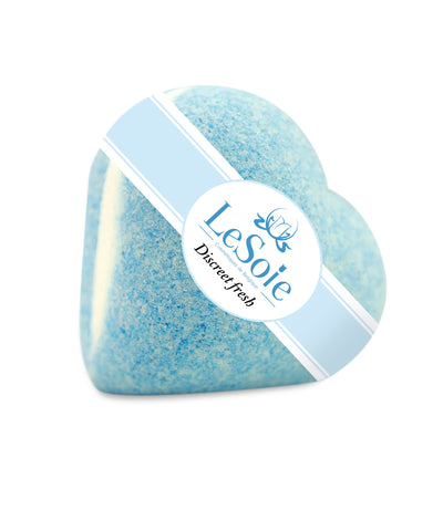 LeSoie Bath Heart 85g - Discreet Fresh