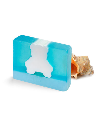 Blue Teddy Block Soap