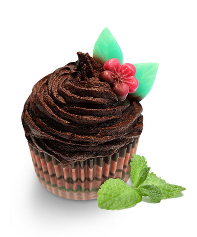Chocolate Mint Soap Cupcake