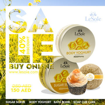 LeSoie SALE - 40% Natural Body Care Milk & Honey