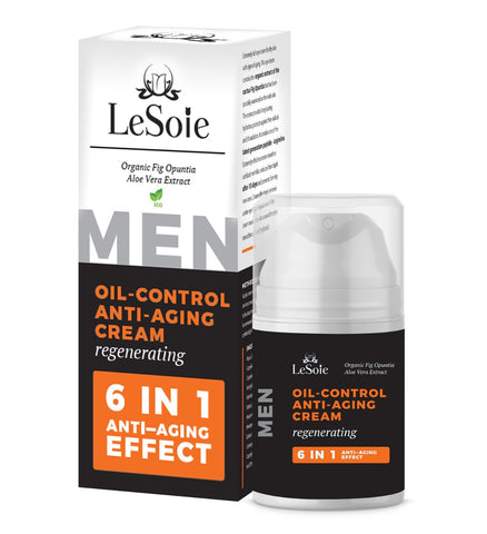 Oil Control Anti-Aging Cream,  ( ECO Certified ) - For Men