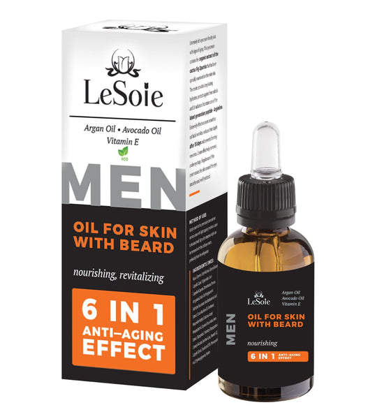 Oil For Skin With Beard ( ECO Certified ) - For Men