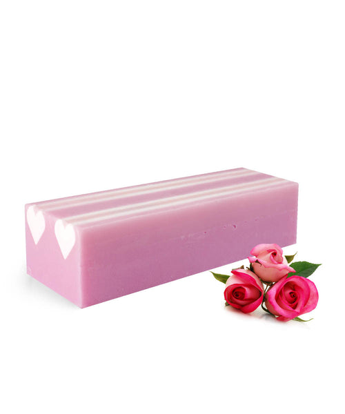 Rose with Hearts Block Soap