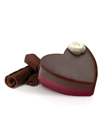 Small Heavenly Chocolate Heart Soap