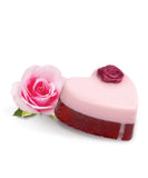 Small Rose Garden Heart Soap