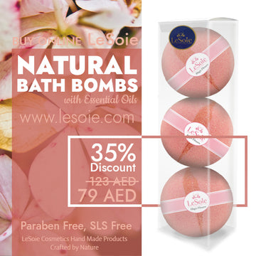 LeSoie SALE - 35% Natural Bath Bomb 660g, Magic Flowers