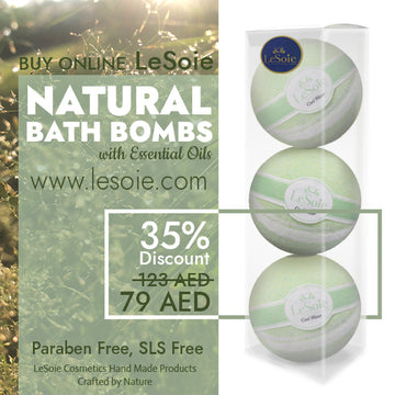 LeSoie SALE - 35% Natural Bath Bomb 660g, Cool Water