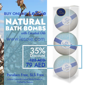 LeSoie SALE - 35% Natural Bath Bomb 660g, Cotton
