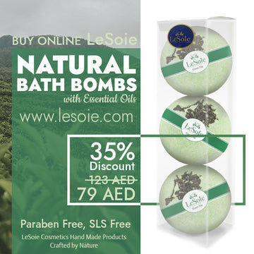 LeSoie SALE - 35% Natural Bath Bomb 660g, Green Tea