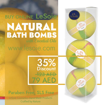 LeSoie SALE - 35% Natural Bath Bomb 660g, Mango