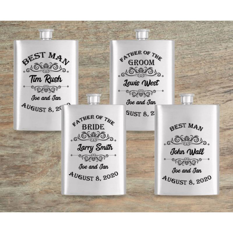 Constant Creations Co Groomsmen Gift Flask Gift Flask