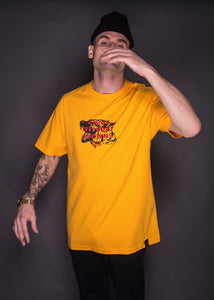 Kings Without Crowns. Danger Dog Tee. Gold Color Option.