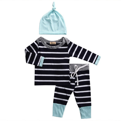 Cuddle Stripes Play Set - Grey/Teal