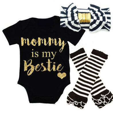 Mama is My Bestie Gold Set
