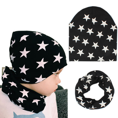 Star Beanie & Scarf Set - 11 Colors