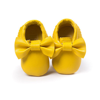 Sweet Bow Moccasins - Leather - 14 Colors!!!