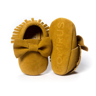 Sweet Bow Moccasins - Suede - 10 Colors!!!
