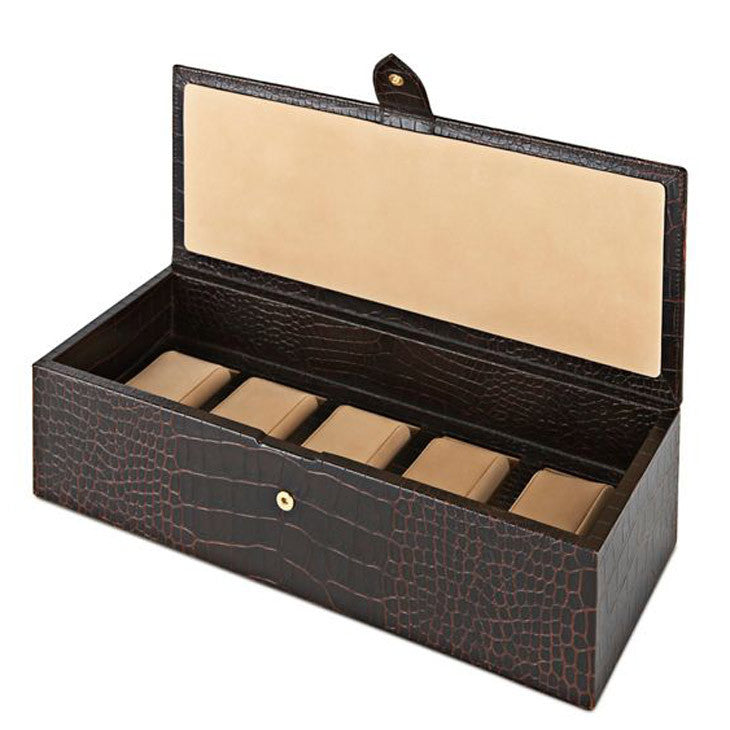 calf leather 5 grid watch box