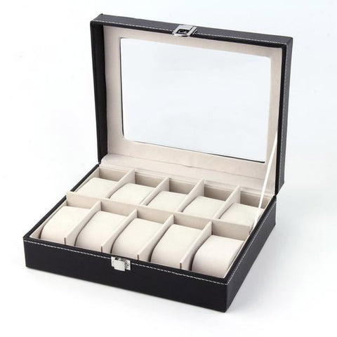 10 Grid Leather Display Box