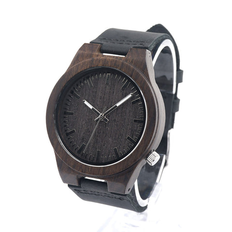 Dark Wood Minimalist Watch