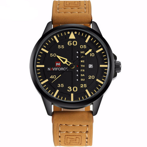 Leather Band Army Watch