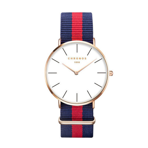 Blue & Red Stripes Watch