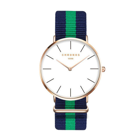 Blue & Green Strap Watch