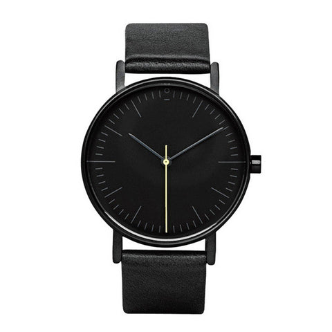 Black & Black Minimalist Watch
