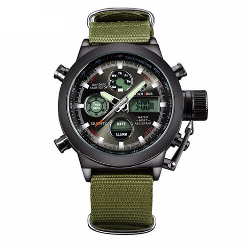 30ATM Waterproof Military Watch