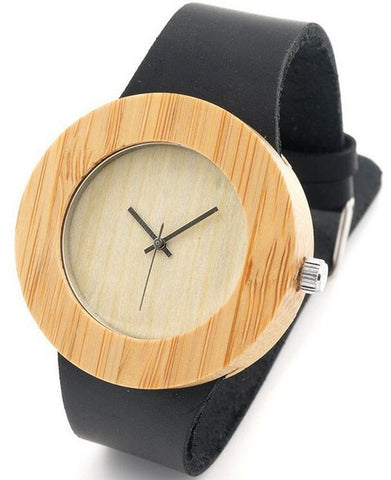 Oversized Wooden Watch Ladies