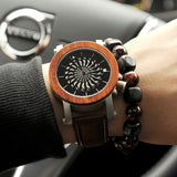 Propeller Dark Wood Watch