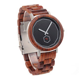 Red Wood Minimalist Watch