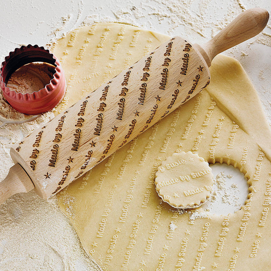 Personalised Embossing Rolling Pin