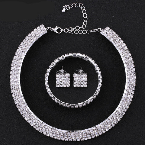 Princess Clear Crystal Jewelry Set