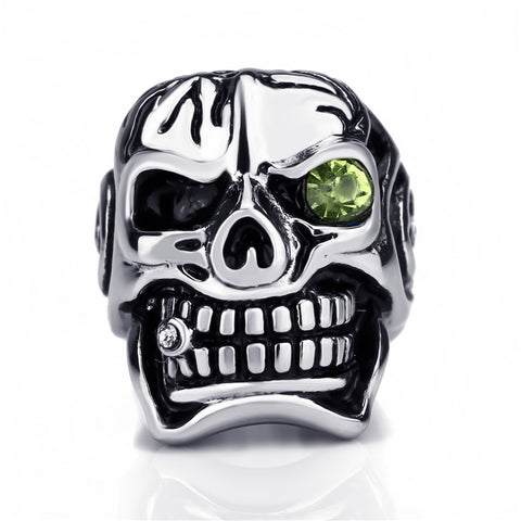 Cigar Smoking Skull Ring