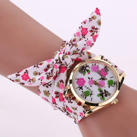 Womens Flower Cloth Watch