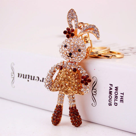 Crystal Long Ear Rabbit Keychain