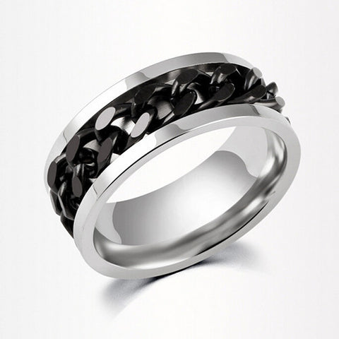 Chain Style Stainless Steel Band Ring