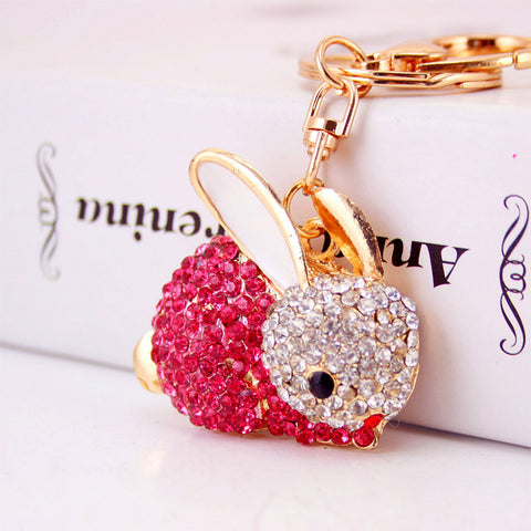 Crystal Rabbit Keychain