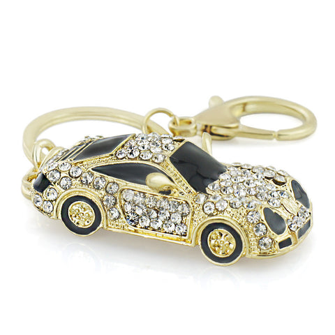 Crystal Sports Car Keychain