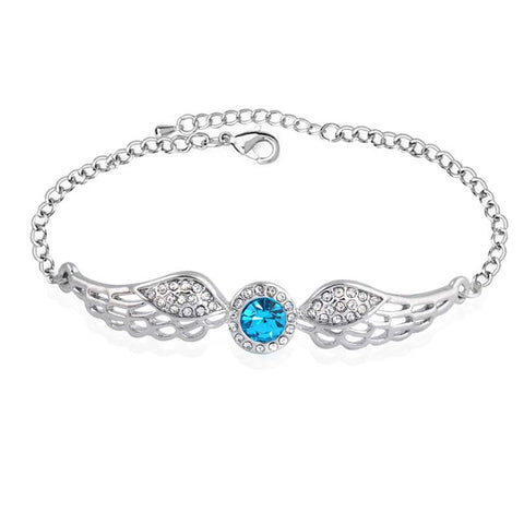 Crystal Angel Wings Bracelet