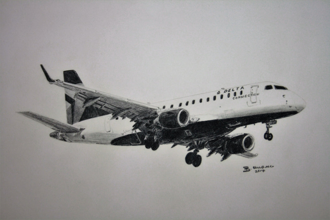 OLD EDITION Delta Connection Embraer 175 print - Republic