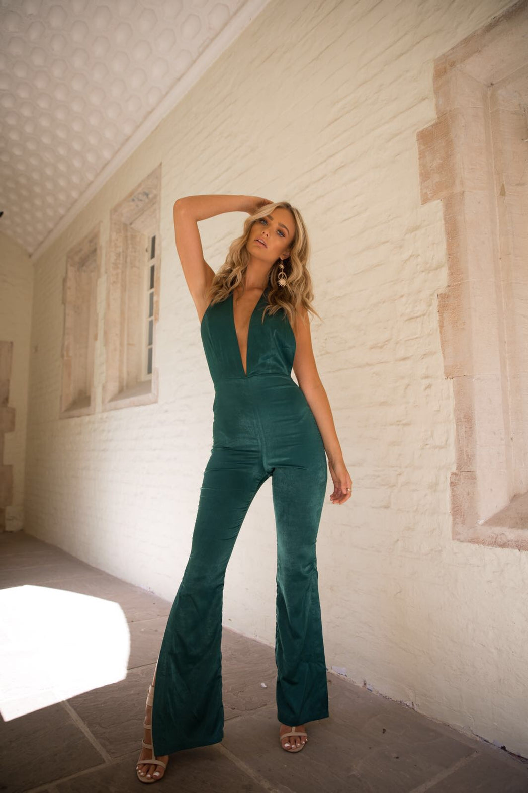 Temple Jumpsuit | Forest Green